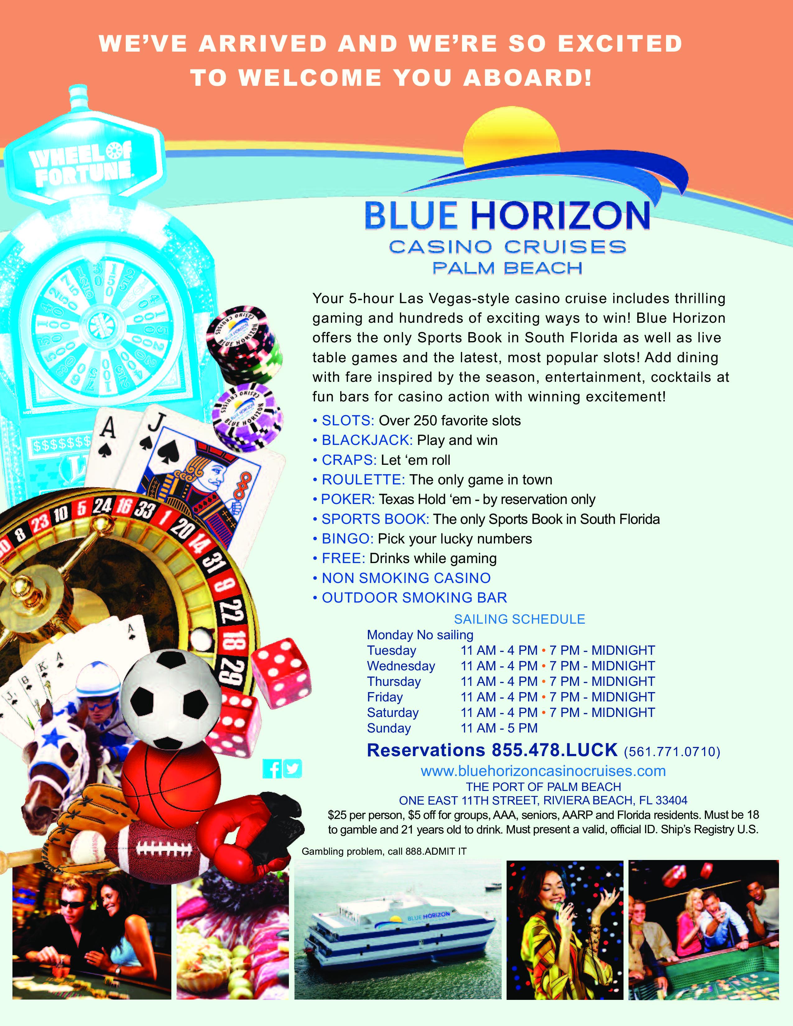 Blue horizon gambling cruise